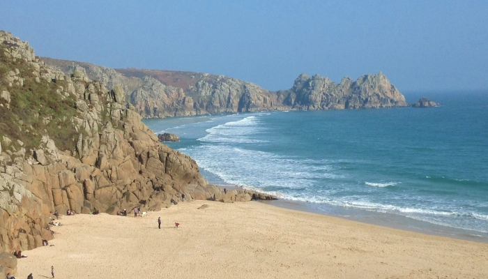 Porthcurno beach and Logan Rock (5)